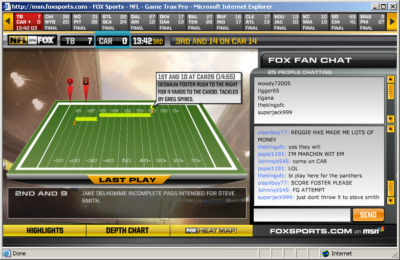 john szinger software fox nfl game tracker pro