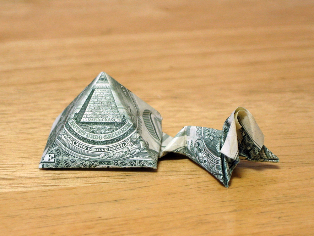 Dollar Sphinx And Pyramid