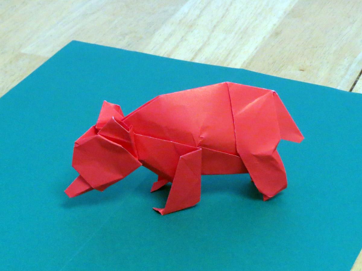 Origami animal sculpture zing blog adirondack origami exhibition jeuxipadfo Image collections