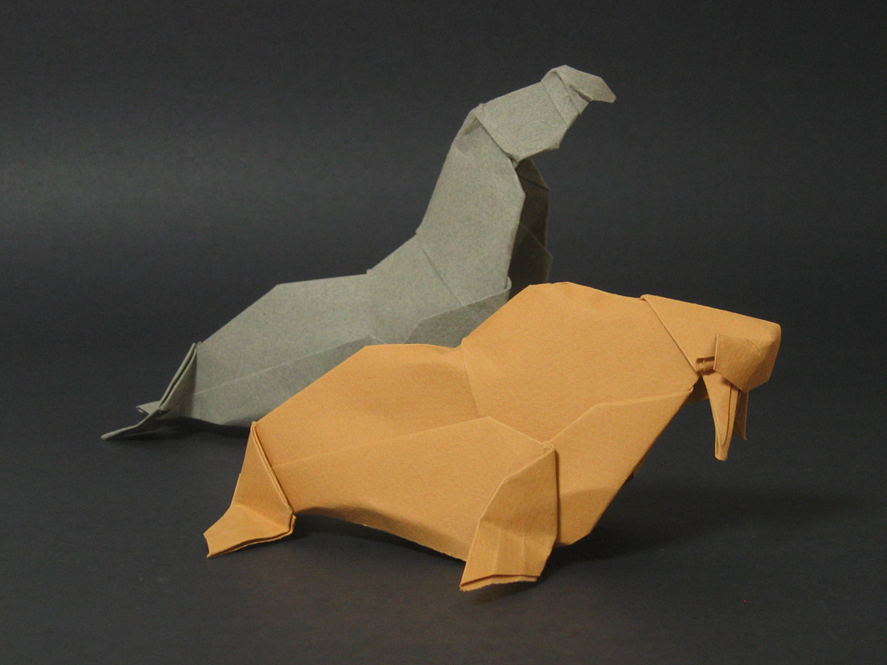 Next up origami narwha...