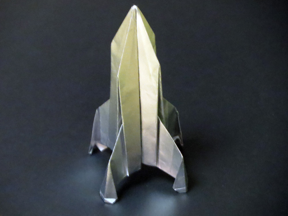 Origami Rocket Ship Tutorial Flying Spaceship Paper