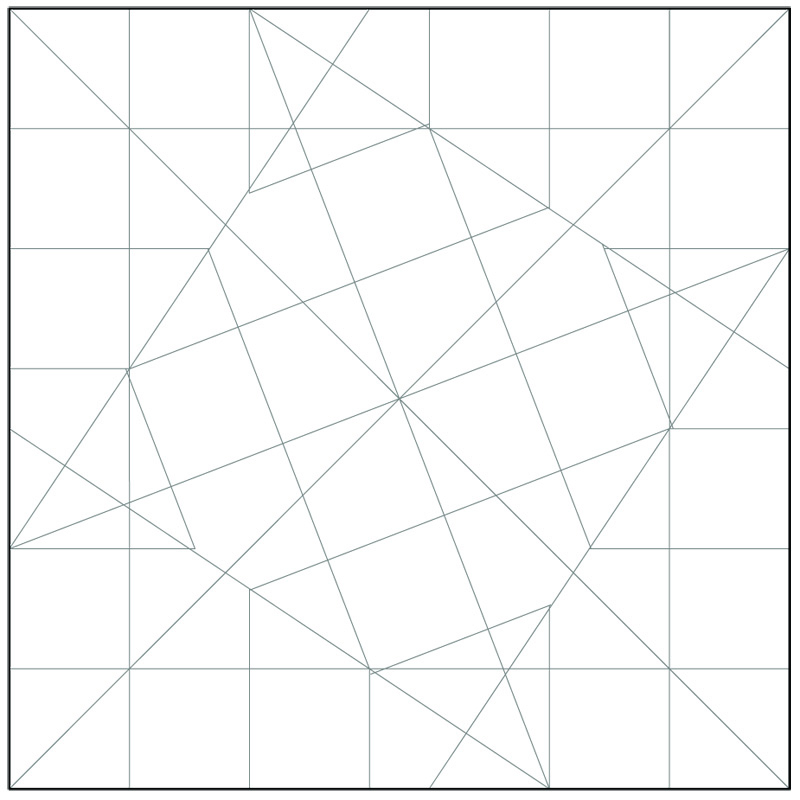 Crease Pattern For Dual Color Stellated Octahedron