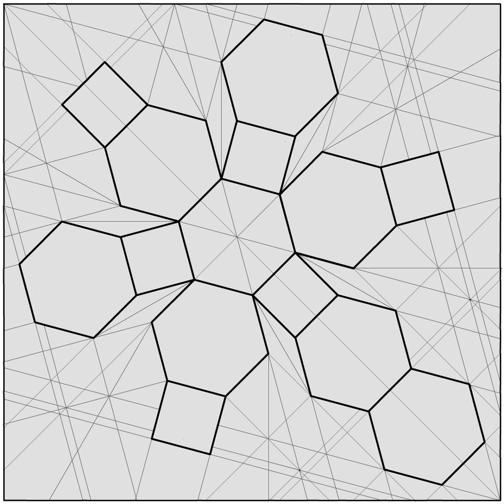 Origami crease patterns for Sphere net template